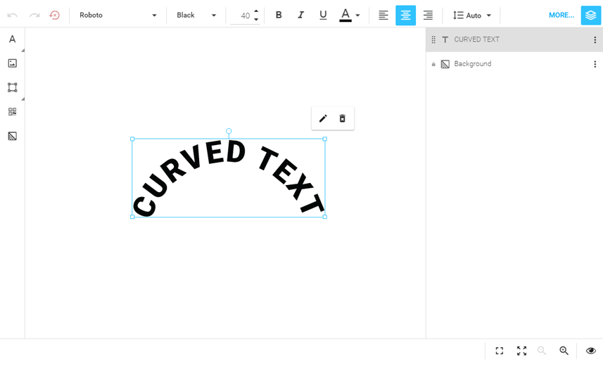 Curved Text