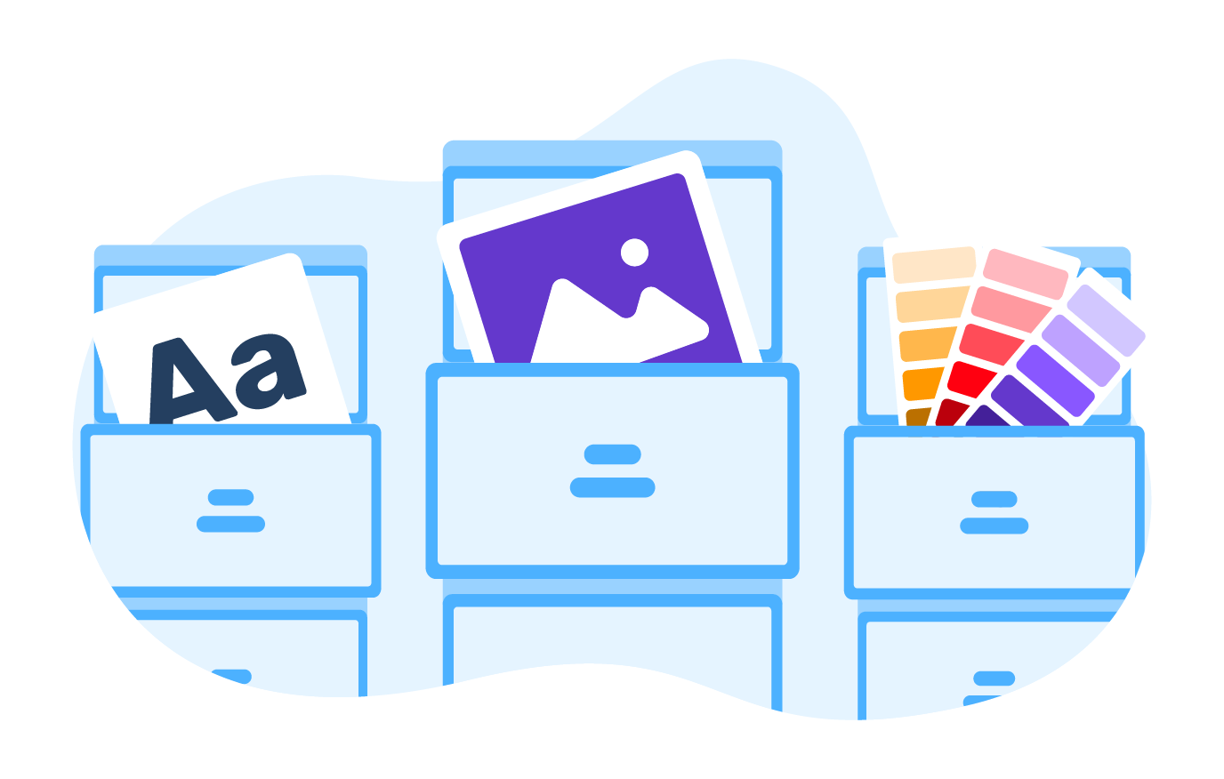 Admin panel for managing web-to-print projects