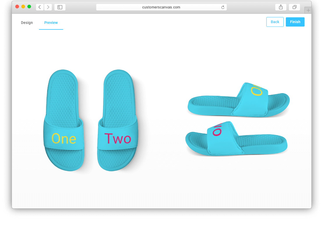 Slippers with limited print colors screenshot 3