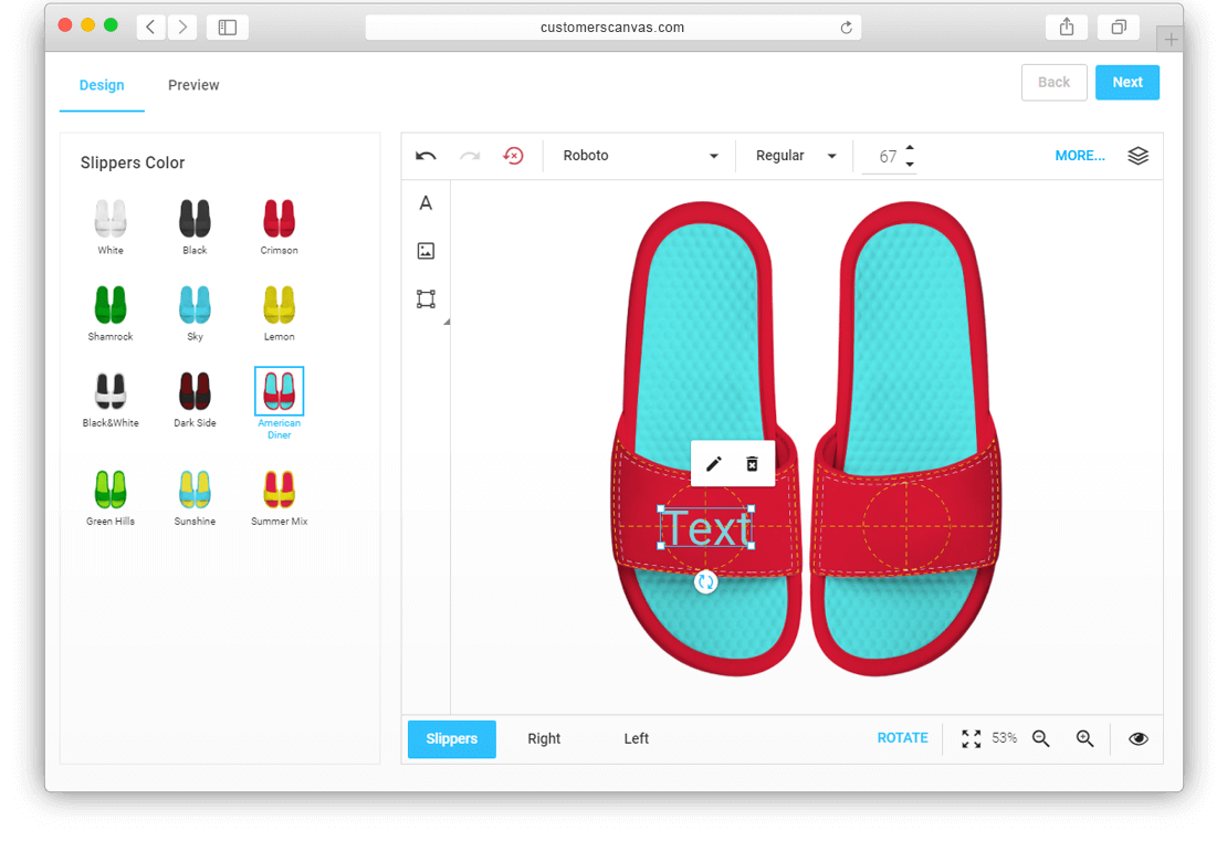 Slippers with color options screenshot 2